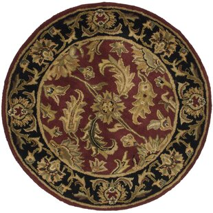 Cranmore Handmade Wool Red Area Rug by Charlton Home