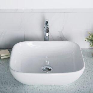 Best Elavo Ceramic Square Vessel Bathroom Sink By Kraus