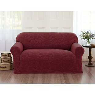 Damask T-Cushion Loveseat Slipcover