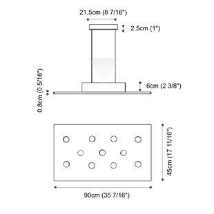 Pop 11-Light Geometric Chandelier by ZANEEN design