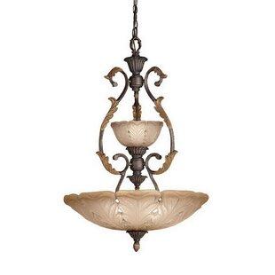Wheeling 4-Light Bowl Pendant by Fleur De Lis Living