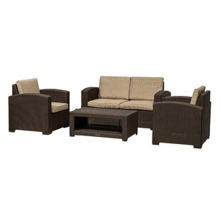 Channing 4 Seater Rattan Sofa Set Image