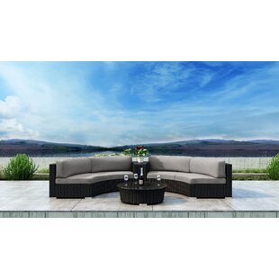 Glendale 4 Piece Sectional Set with Sunbrella Cushion by Everly Quinn