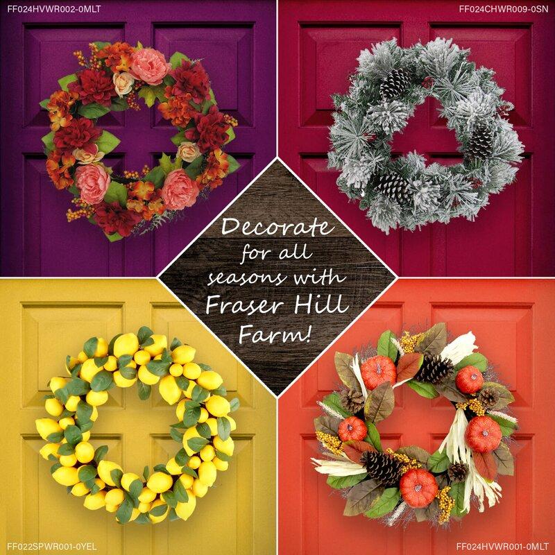 Primrue Door Hanging Harvest 24 Polyvinyl Chloride Wreath Wayfair