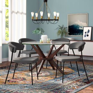 Viviana Upholstered Dining Chair Set (Set of 4) Wade Logan
