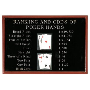 'Poker Ranking and Odds' Framed Vintage Advertisement by Winston Porter