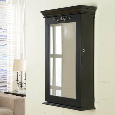 Morris Wall Mounted Jewelry Armoire Color: Black