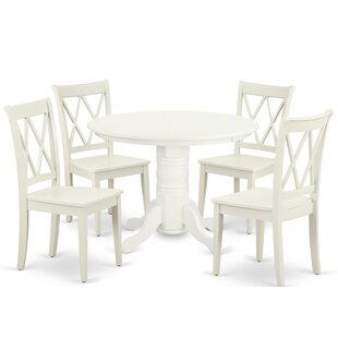Kutcher 5 Piece Solid Wood Dining Set