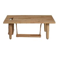 Deals on Bungalow Rose Lakendra Solid Wood Coffee Table