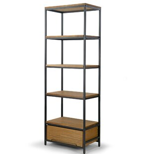 Klein Pine Wood Display Metal Etagere Bookcase