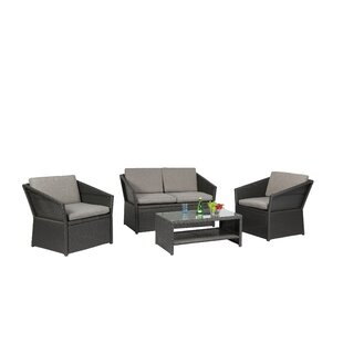 Baner Garden 4 Piece Dining Set with Cushions