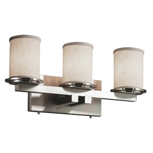 Ebern Designs Favela 3 Light LED Cylinder w/ Flat Rim Vanity Light