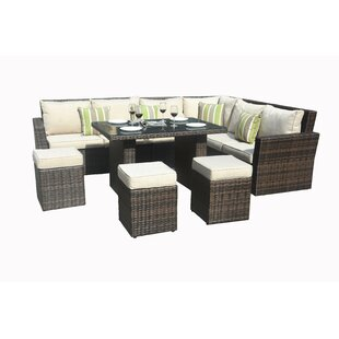 Angelica 8 Piece Sectional Seating Group with Cushions