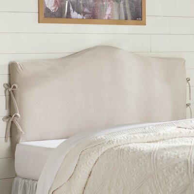 Lark Manor Angelique Slipcover Upholstered Panel Headboard Upholstery: Mystere Dove, Size: King