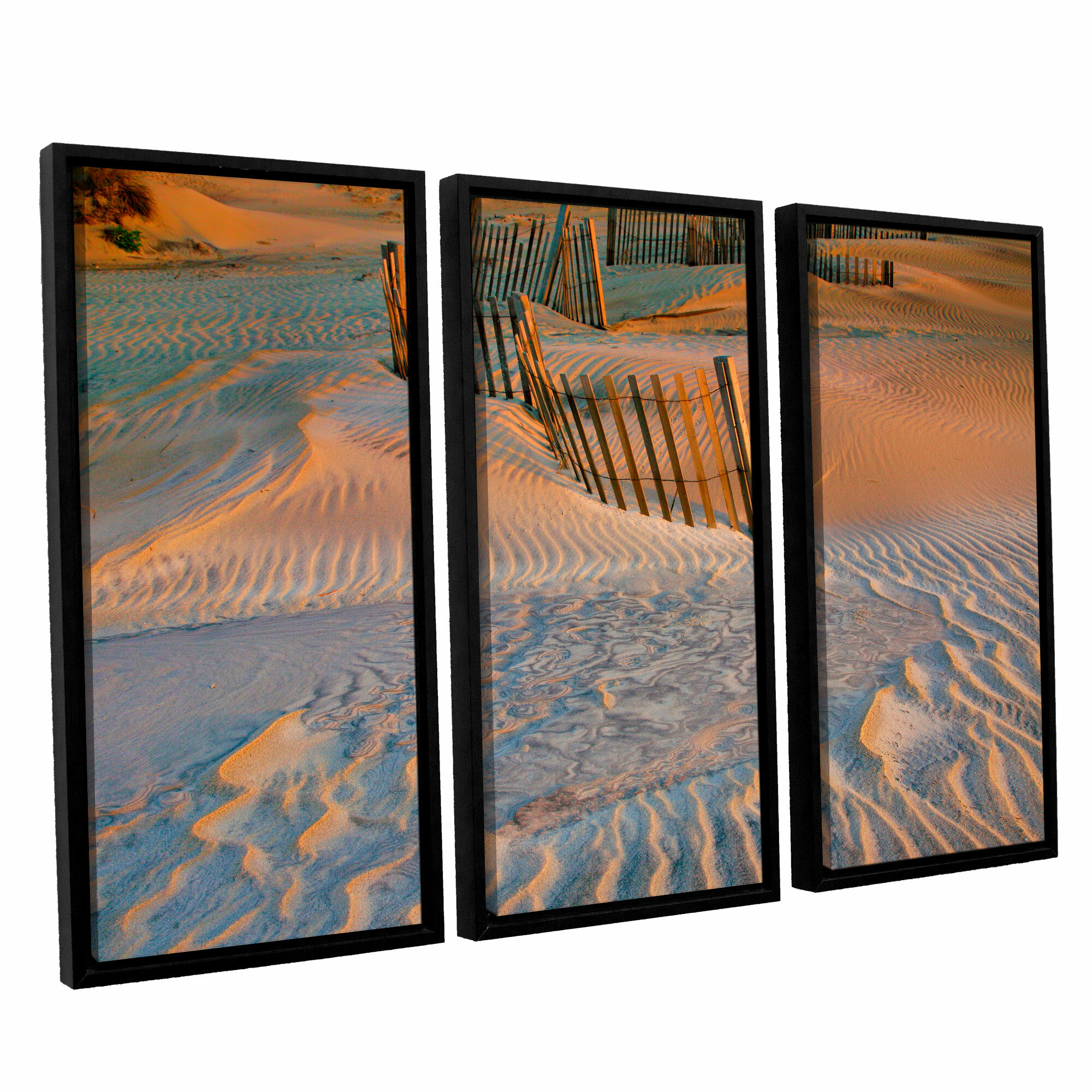 Artwall Dune Patterns Ii By Steve Ainsworth 3 Piece Framed Photographic Print On Wrapped Canvas Set Wayfair