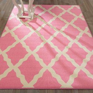 Staunton Contemporary Pink Morroccan Trellis Area Rug