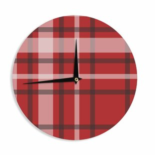 Famenxt 'Plaid Red' 12 Wall Clock by East Urban Home
