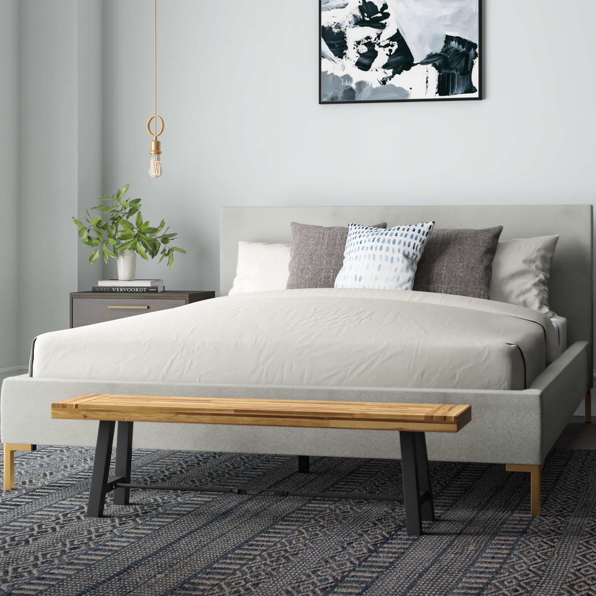 Modern Velvet Beds Allmodern