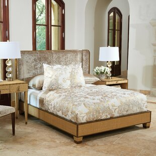D'Oro Upholstered Panel Bed with Mattress