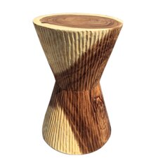 Chiseled Taper Stool by Asian Art Imports