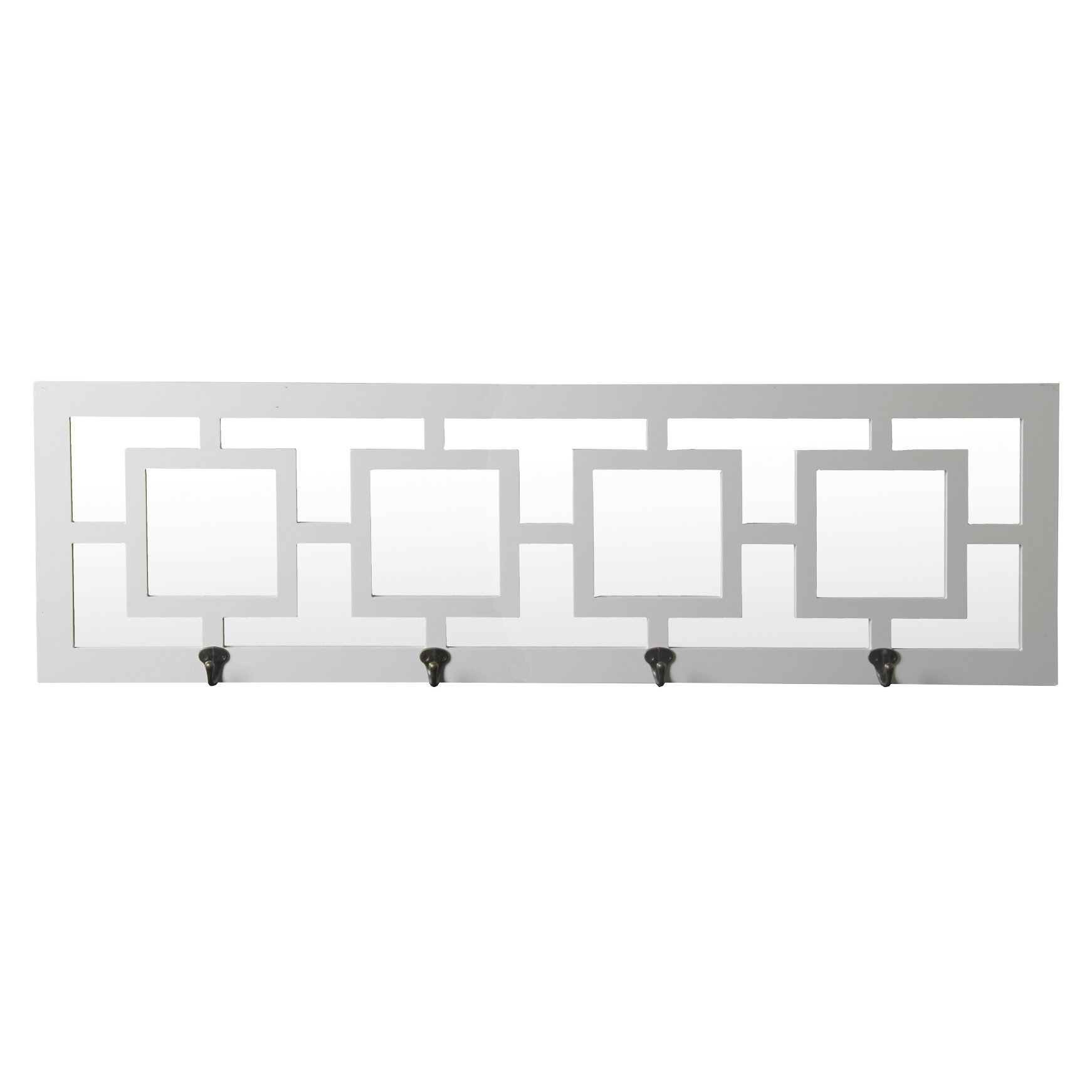Willa Arlo Interiors 4 Hook Geometric Wall Mirror Reviews