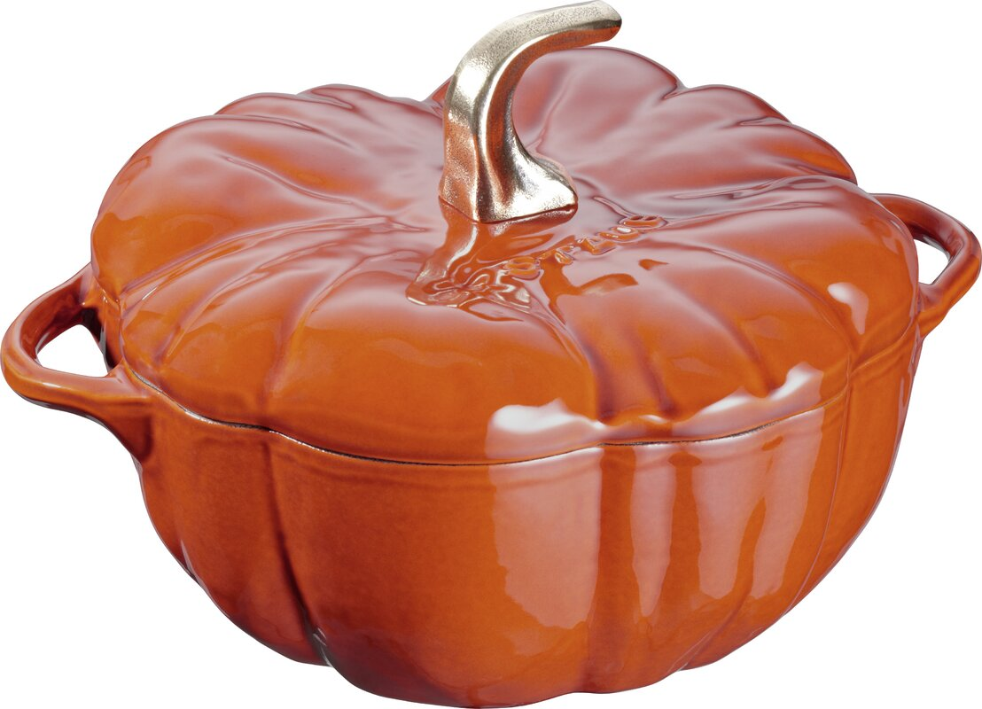 staub cast iron pumpkin cocotte & reviews | wayfair