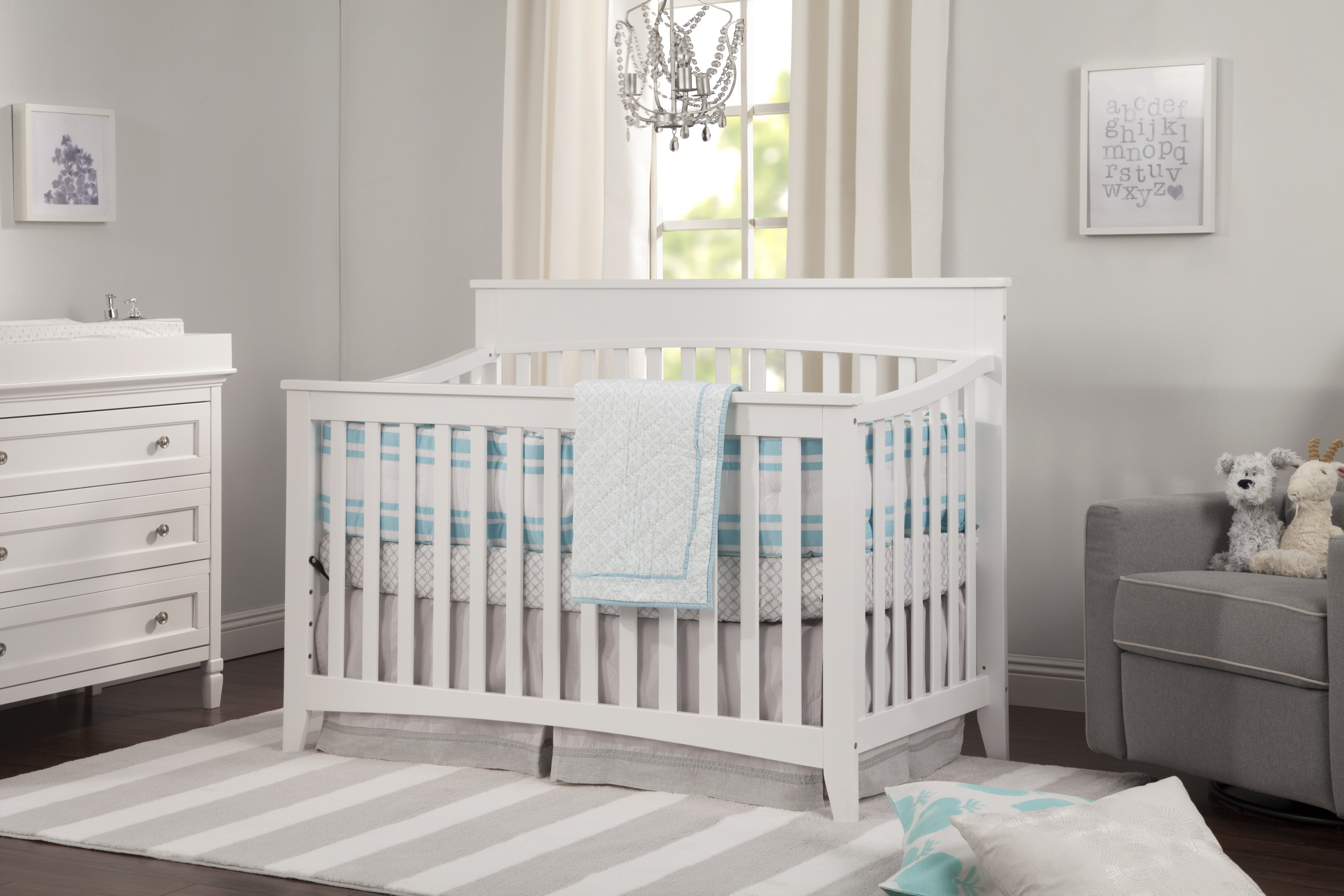 crib bo attached changer awesome in table of cribs and naomi with changing viv rae convertible