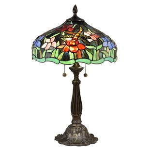 Fishback Dragonfly Waterlily 26 Table Lamp