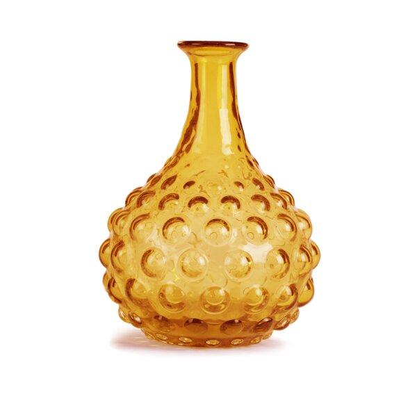 Glitzhome Handblown Round Hobnail Art Glass Vase Wayfair