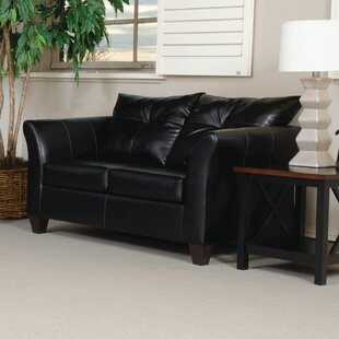 Russo Bonded Leather Loveseat ..