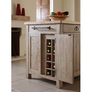 Monteverdi Kitchen Island with Butcher Block Top