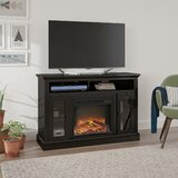 Tucci TV Stand for TVs up to 50 with Electric Fireplace Included by Darby Home Co