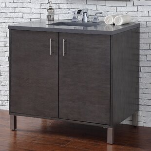 Cordie 36 Single Silver Oak Wood Base Bathroom Vanity Set by Orren Ellis