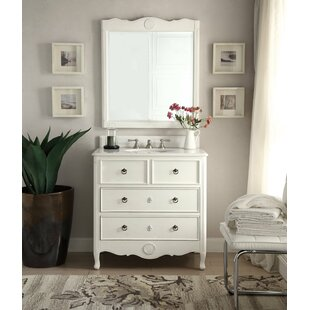 Nallely 34 inch  Single Bathroom Vanity Set with Mirror