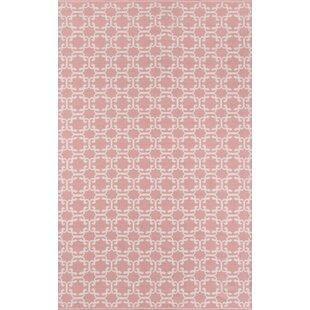 Norbert Handwoven Flatweave Pink Indoor/Outdoor Area Rug