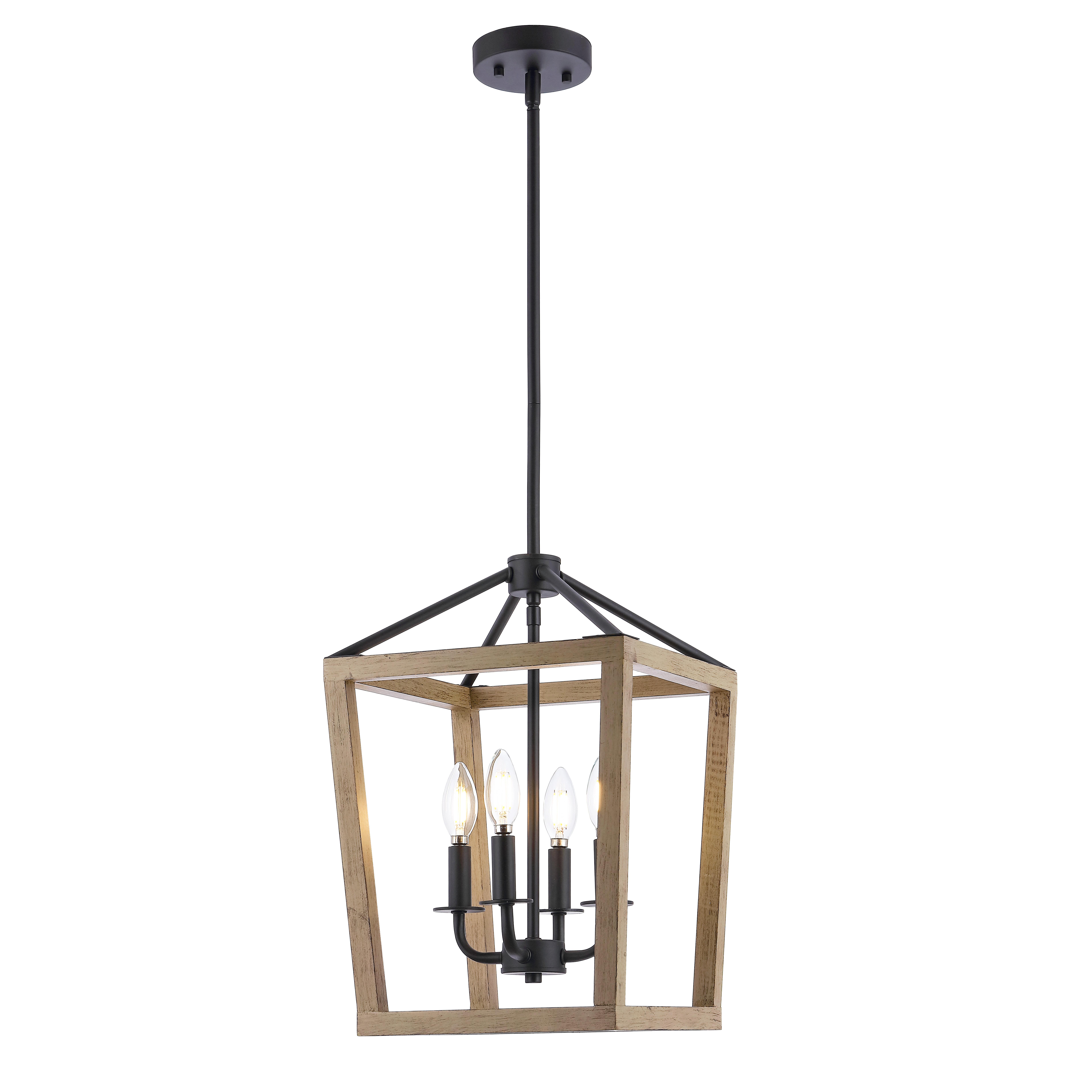 Gracie Oaks Obell 4 Light Lantern Rectangle Pendant Reviews Wayfair