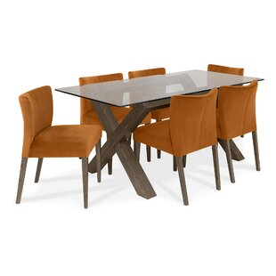 Caserta Dining Set With 6 Chairs By Ebern Designs