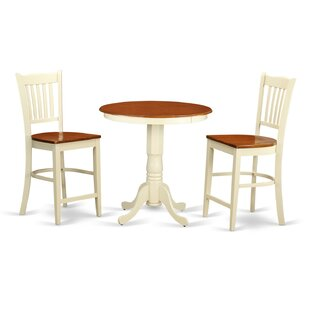 Eden 3 Piece Counter Height Pub Table Set East West Furniture