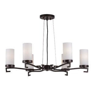 Abbigail 6-Light Shaded Chandelier by Latitude Run