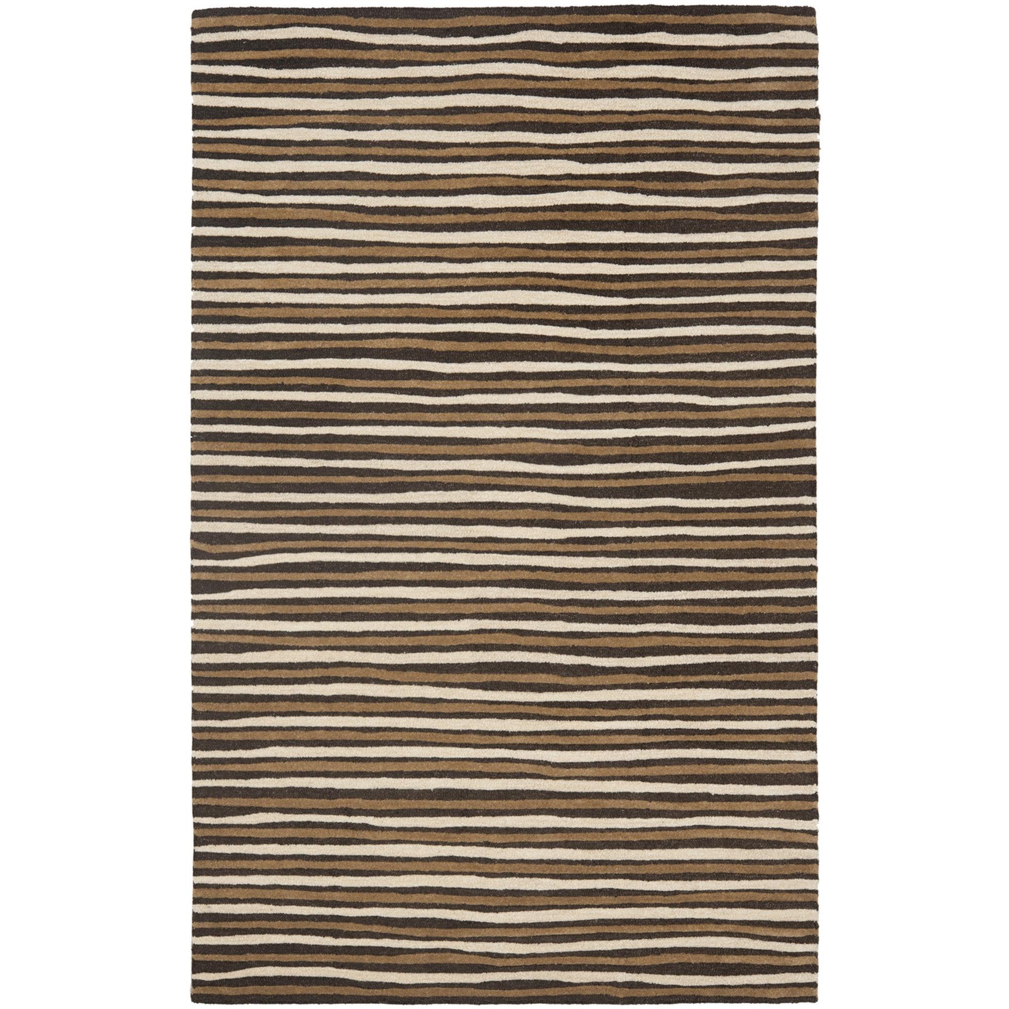 Martha Stewart Rugs Martha Stewart Hand Tufted Wool Brown Area Rug Reviews Wayfair