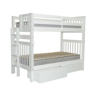 Treva Tall Twin Over Twin Bunk Bed with Storage
