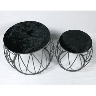Bjorn 2 Piece Accent Stool Set by Mercer41
