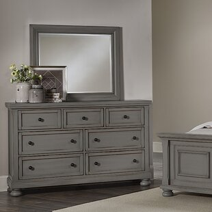 Calila Triple 7 Drawer Dresser with Mirror