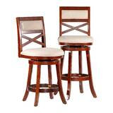Saylor Bar & Counter Swivel Stool by Millwood Pines