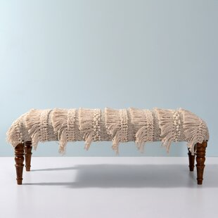 Tibbits Upholstered Bench by Bungalow Rose