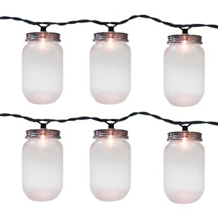 The Holiday Aisle Mason Jar 10 Light Novelty String Light