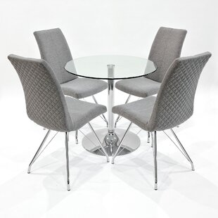 Isola Dining Set With 4 Chairs By Metro Lane