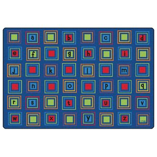 Literacy Squares Seating Kids Rug By Carpets for Kids Premium Collection