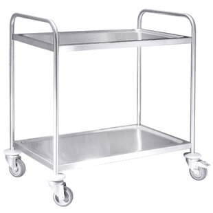 Kitchen Cart With Stainless Steel Top By Symple Stuff