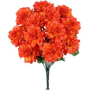 12 Stems Artificial Full Blooming Dahlia